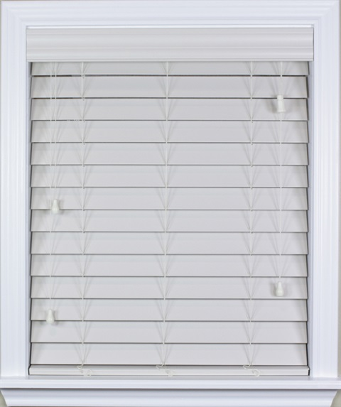 "2.5"" Premium Wood Privacy Blinds"