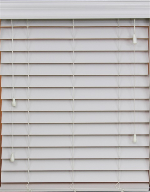 "2.5"" Cordless Faux Wood SmartPrivacy® Blind"