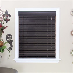 Dark Walnut Faux Wood Blind